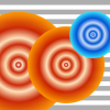 ring tone cover artwork showing 3 circles in red and blue